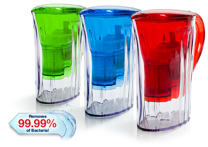 Cleansui water filter jugs designed by Guzzini